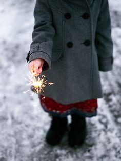 Christmas sparklers, how fun for Christmas Eve.