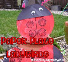 Paper Plate Ladybird ~Rainy Day Mum