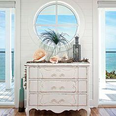 Romantic Island Beach House | Show Off the View | CoastalLiving.com Anna Maria Island, Beaches, Beachcoast Livingseasid, Dresser, The View, Beach Houses, Coastal Living, Beach Pictures, Porthol Window