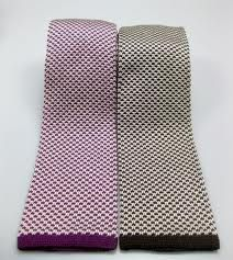 Knit ties are back.