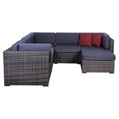 International Home Miami Aventura 6 Piece Deep Seating Group with Cushions $2625