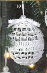 free crochet Christmas tree ornaments