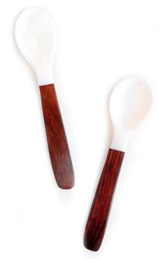 Shell & Wood Spoon wood spoon, shell