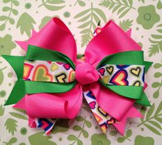 Guava Heart Boutique Bow by pinkpolarisboutique on Etsy, $7.00