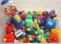 C is for Candy sensory tub