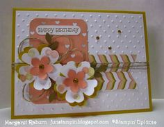 Fun Stampin' with Margaret!  Gifts of Kindness (sentiment), Lullaby DSP; Flower Shop, Word Window and Petite Petals Punches.