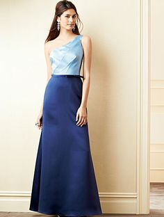 Alfred Angelo Bridesmaid Style 7274L in Once Upon A Time/Navy