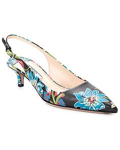 More If only my Budget would let me! — Prada Floral Leather Slingback Pump