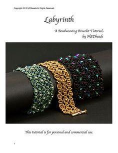 Beadwoven Bracelet Tutorial  Labyrinth by NEDbeads on Etsy