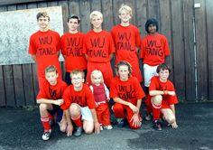 Rad soccer team. The little girl is straight grillin.