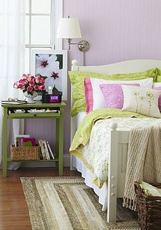 Lavender and Lime Green