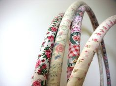 fabric covered hula hoops [bad link, don't have instructs, maybe mod podge]