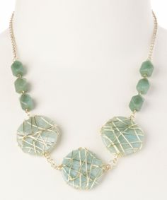 perfect for d #beach ~ Gold & Moss Agate Wire Wrapped #Necklace