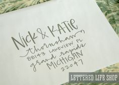 fun ways to address your letters. caligraphy.