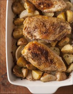 Simple Roast Chicken and Potatoes - simplicity at its best. An easy, one-pan roast full of flavor.