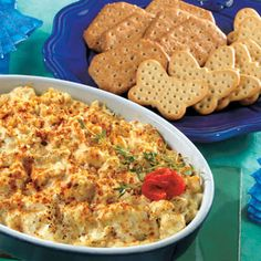Ready in just 30 minutes, this appetizer is sure to be a hit. Crabmeat is mixed with cream cheese, mayonnaise, onion and mustard and heated until bubbly...it's irresistible.