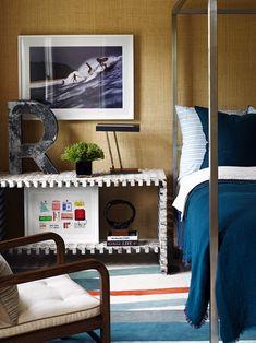 grasscloth/blue/rug - boys room