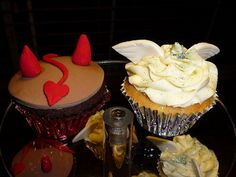Heaven and Hell cupcakes | Flickr - Photo Sharing!
