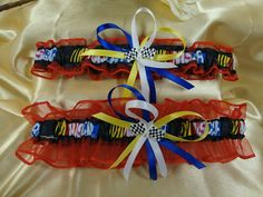 Nascar wedding garter set by Starbridal@etsy.com Wish I'd had one of these!!!,  Go To www.likegossip.com to get more Gossip News!