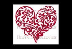 Heart Cross Stitch Red Heart Cross Stitch by NewYorkNeedleworks, $8.00