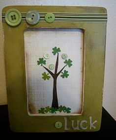 "Use buttons to create a cute ""shamrock tree"" with this St. Patrick's Day tutorial."