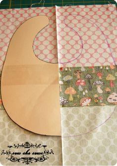 quilted patchwork bib pattern & tutorial