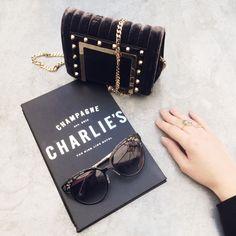 Carolina Engman With the Jimmy Choo Lace ESTELLE sunglasses at New York Fashion Week