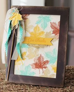This fun fall frame is so easy to make. Check out the deets on the blog post. #stampinup #homedecor #handmade #fall #autumn