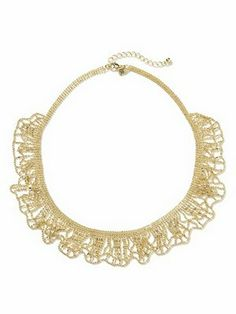 With an old chain and some lace you can make a super-cute necklace. Get the how-to from Ruffles & Stuff.
