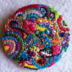 bright floral brooch by Lucismiles on Etsy, $24.00