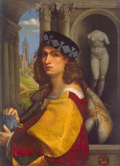 Domenico Capriolo, Portret van een man, 1512, (waarschijnlijk een zelfportret)