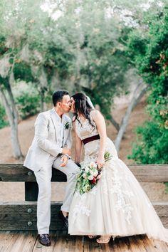 California elopement, photo by Desiree Shuey Photography http://ruffledblog.com/california-elopement-inspired-by-provence #weddingideas #weddingportrait