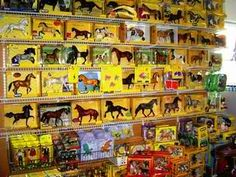 I collected and proudly displayed Breyer horse models as a girl.  I miss the excitement of picking a new one from the store shelf.