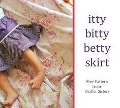 itty bitty betty skirt pattern {Free Pattern}