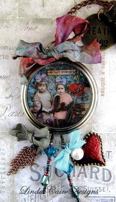 Love this altered pocket watch!