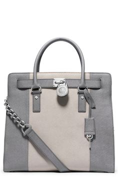 The Michael Kors 'Hamilton Stripe' saffiano leather tote is right on trend for fall.