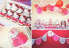 Hello Kitty Themed Birthday Party via Kara's Party Ideas - www.KarasPartyIdeas.com themed birthday parties, hello kitti, hello kitty birthday, birthdays, theme birthday, kitti theme, ideas party, kara parti, parti idea