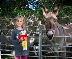 Jane and Rupert meet Danny the Donkey at Pogues Entry for EHOD