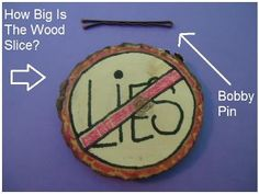 """Thou shalt not lie"" Wood Slice Craft for Ten Commandments for kids in Sunday school or children's church."