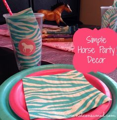 Horse party decorations---> doing it simple and frugal doesn't mean you have to sacrifice beauty!
