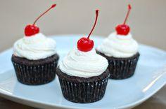 cherry coke cupcakes, cherri coke
