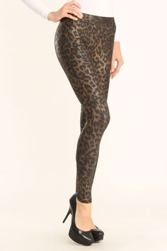 Leggings in Leopard and Gold