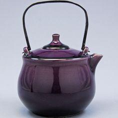 Gorgeous.  アトリエ製 ミニポット (紫) Fukuya - 20th Century Modern Design - purpl teapot, tea pot, tea kettles