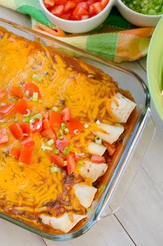 Ground Beef Wet Burritos