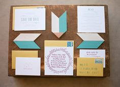 geo invitation suite, photo by Bret Cole http://ruffledblog.com/lake-tahoe-wedding-inspiration #weddinginvitations #stationery