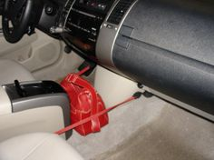 bungee cord to keep stuff in place in the car -- easy!