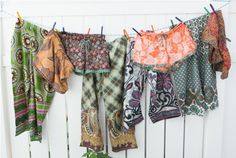 Punjammies are drawstring pajama pants made by women in India rescued from forced prostitution as a way for them to restore their lives.