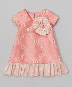 Another great find on #zulily! Pink Lattice Flapper Shift Dress - Infant & Toddler by Caught Ya Lookin' #zulilyfinds