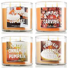 Bath & Body Works Pumpkin Candles for Fall 2013