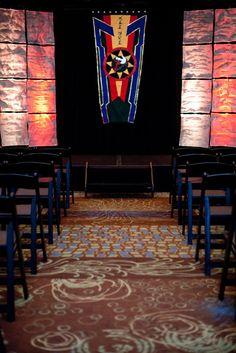Klingon wedding ceremony altar. #startrek
